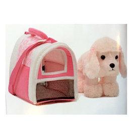Unipak Design Poodle in Pink Carrier