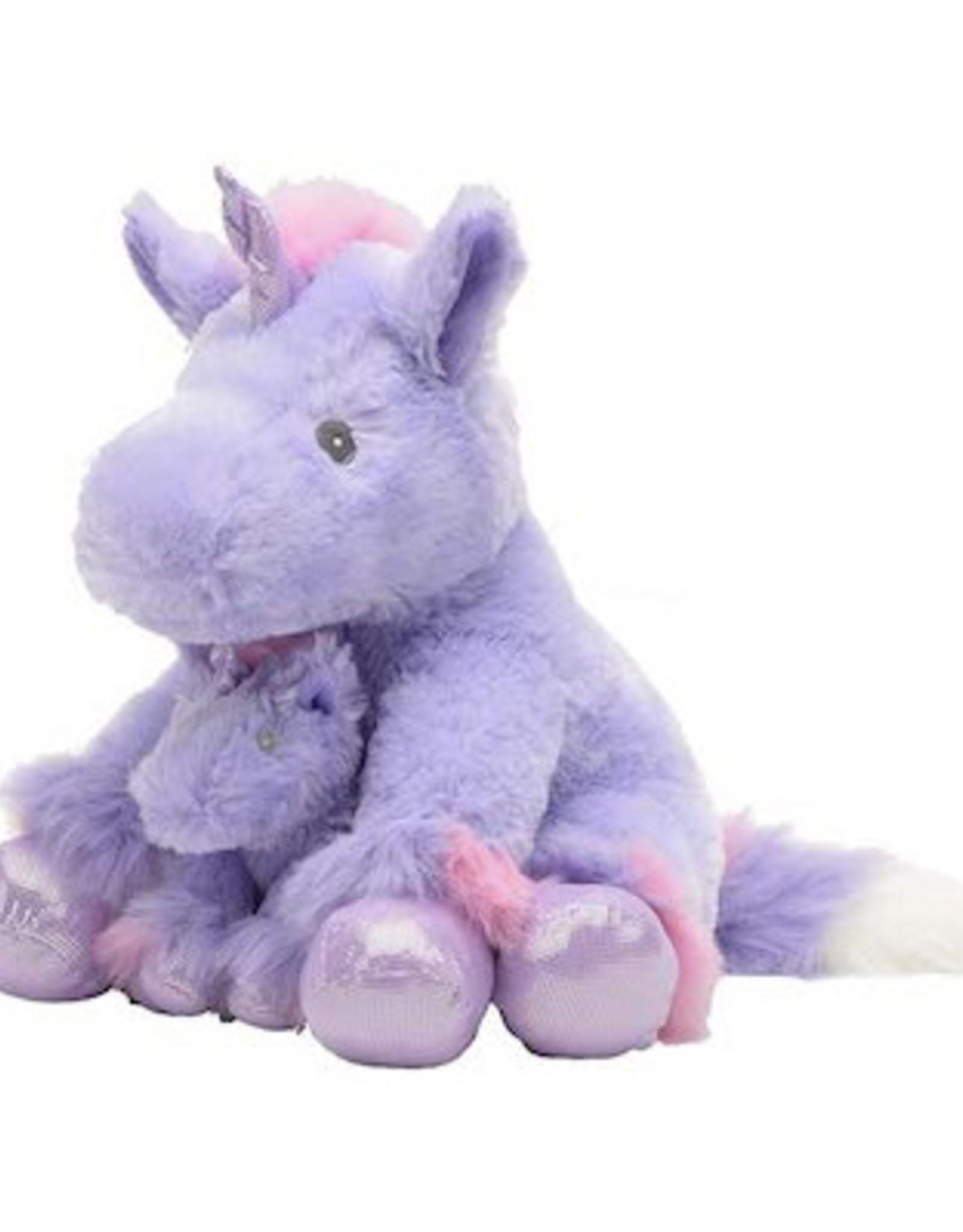 "Unipak Design 13"" Coco Unicorn with Baby Purple"