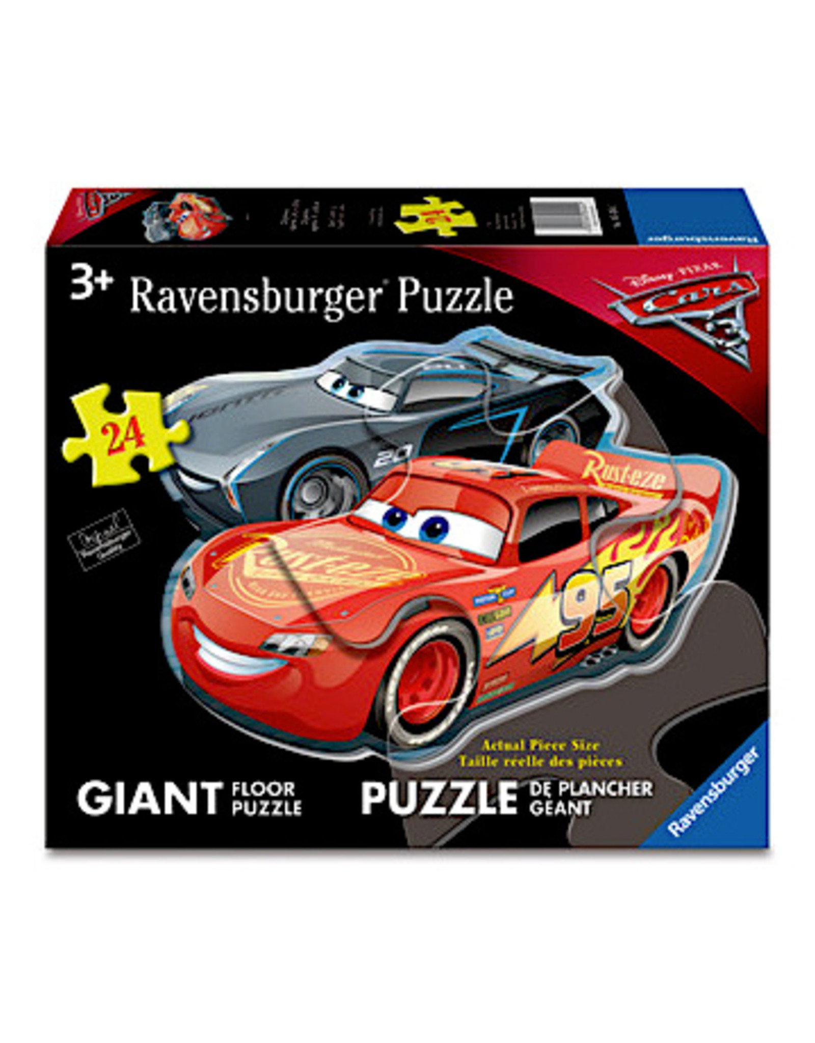Ravensburger Cars: Dueling Cars (24 pc Shaped Floor Puzzle)
