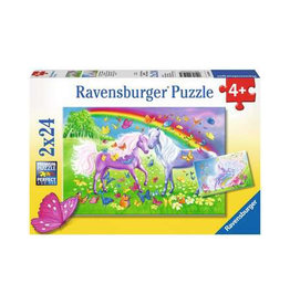 Ravensburger Rainbow Horses-2x24pc