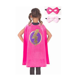Little Adventures Pink Hero Cape and Mask Set