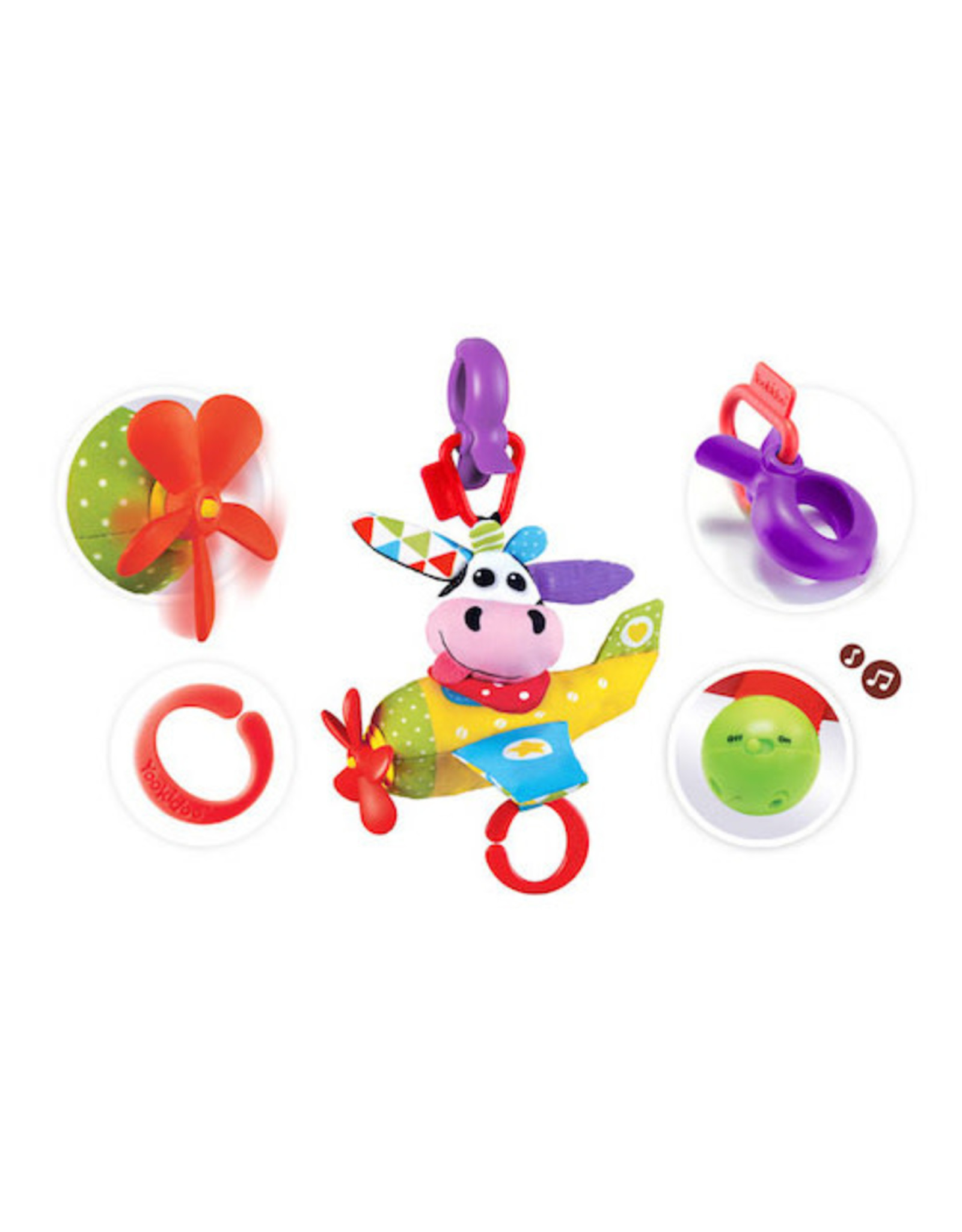 Yookidoo Tap N Play Musical Plane Cow