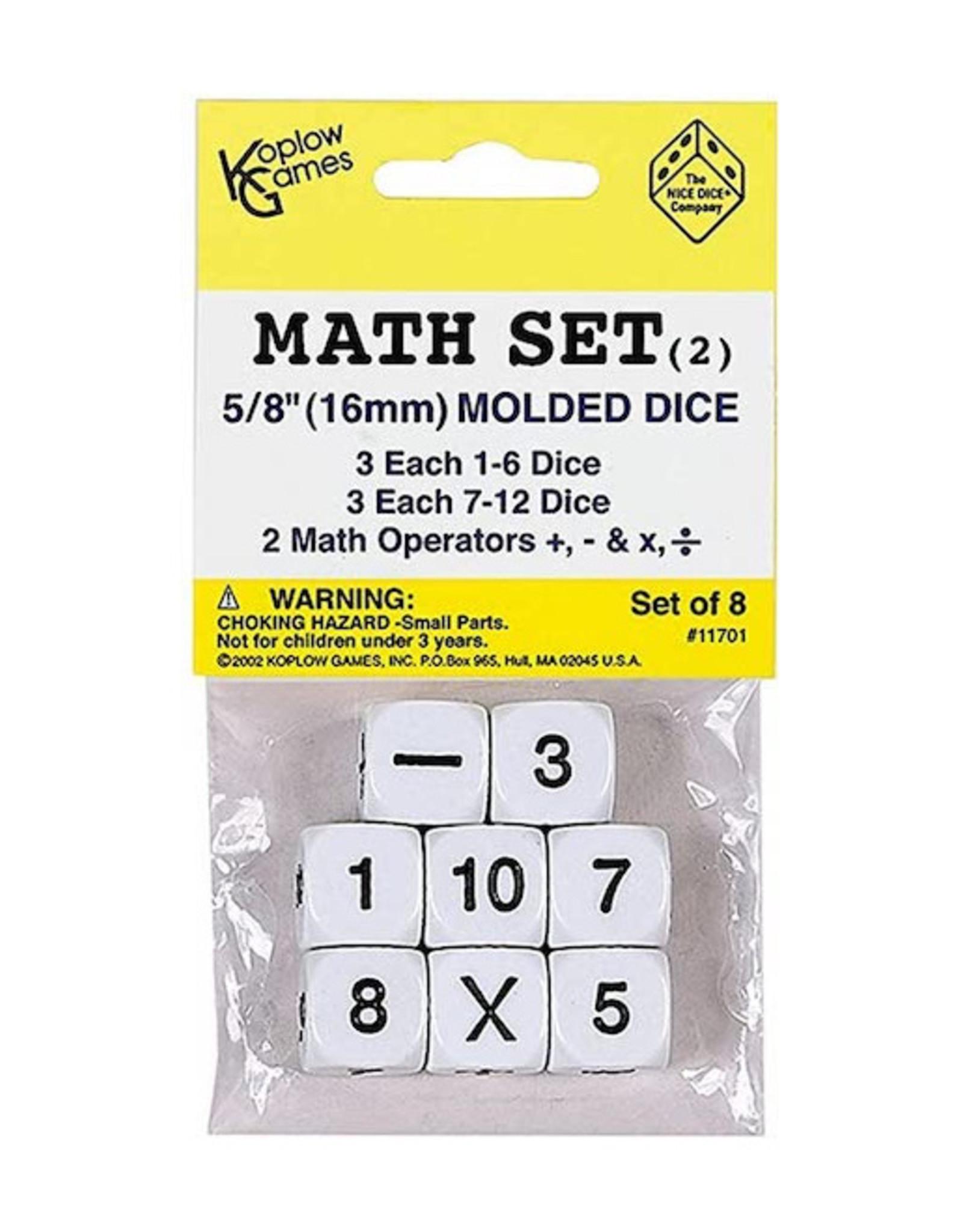 Math Operation Dice, +,-