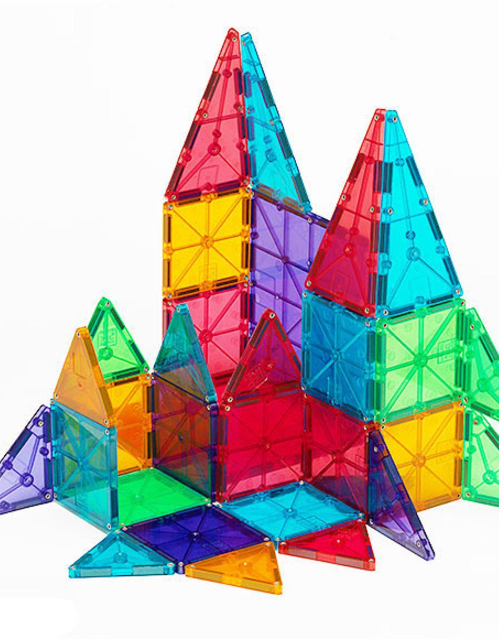 Magna Tiles MAGNA-TILES Clear Colors 48 Piece DX Set