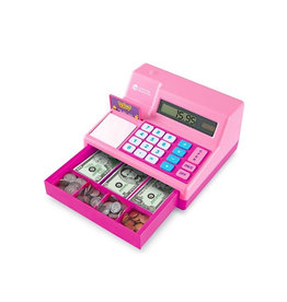 Learning Resources Pretend & Play Calc. Cash Register Pink
