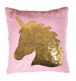 Iscream Unicorn Silhouette Sequin Pillow