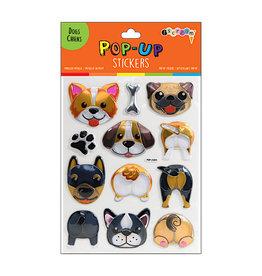 Iscream Dogs Pop Up Sticker