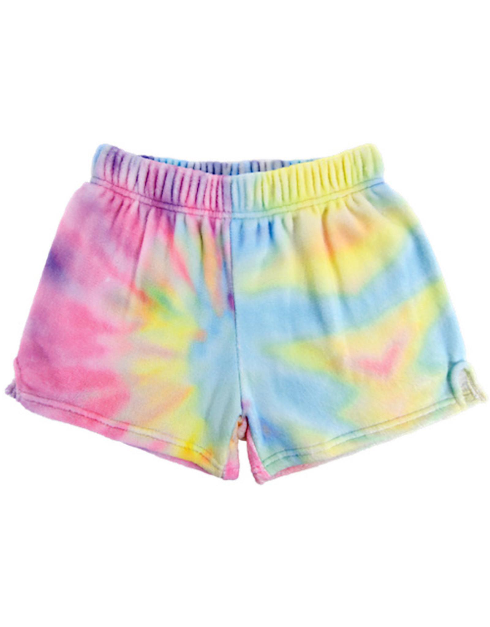 Iscream Pastel Tie Dye Plush Shorts