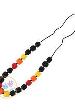 Rainbow Bead Chew Necklace