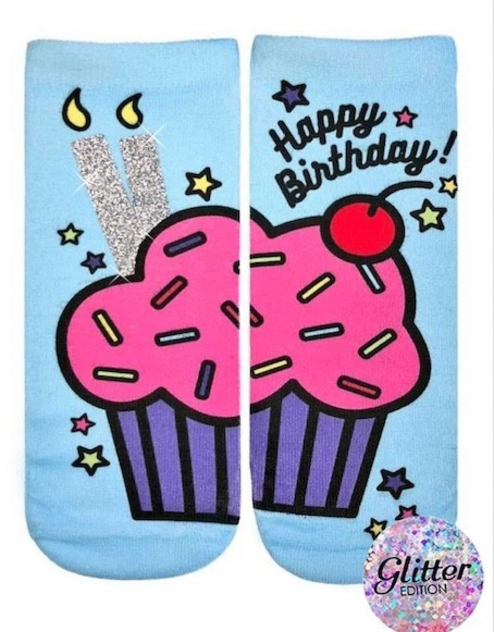 Living Royal Birthday Cupcake Glitter Ankle