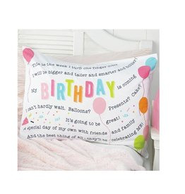 Mud Pie Birthday Pillow Case