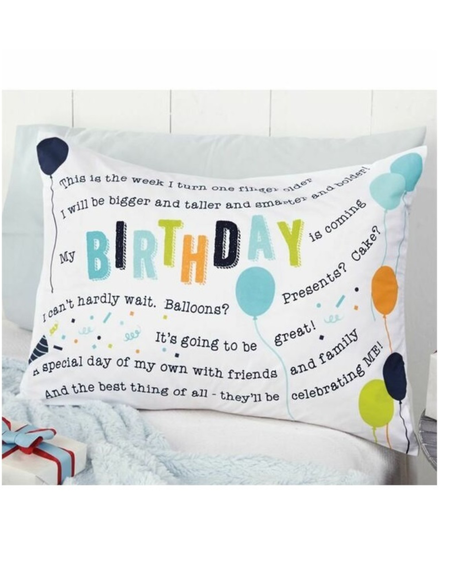 Mud Pie Birthday Pillow Case
