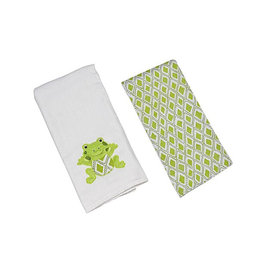 Freckles the Frog Single Burp Cloth (3)