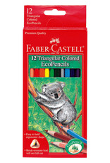 Faber Castell 12ct Triangular Colored EcoPencils