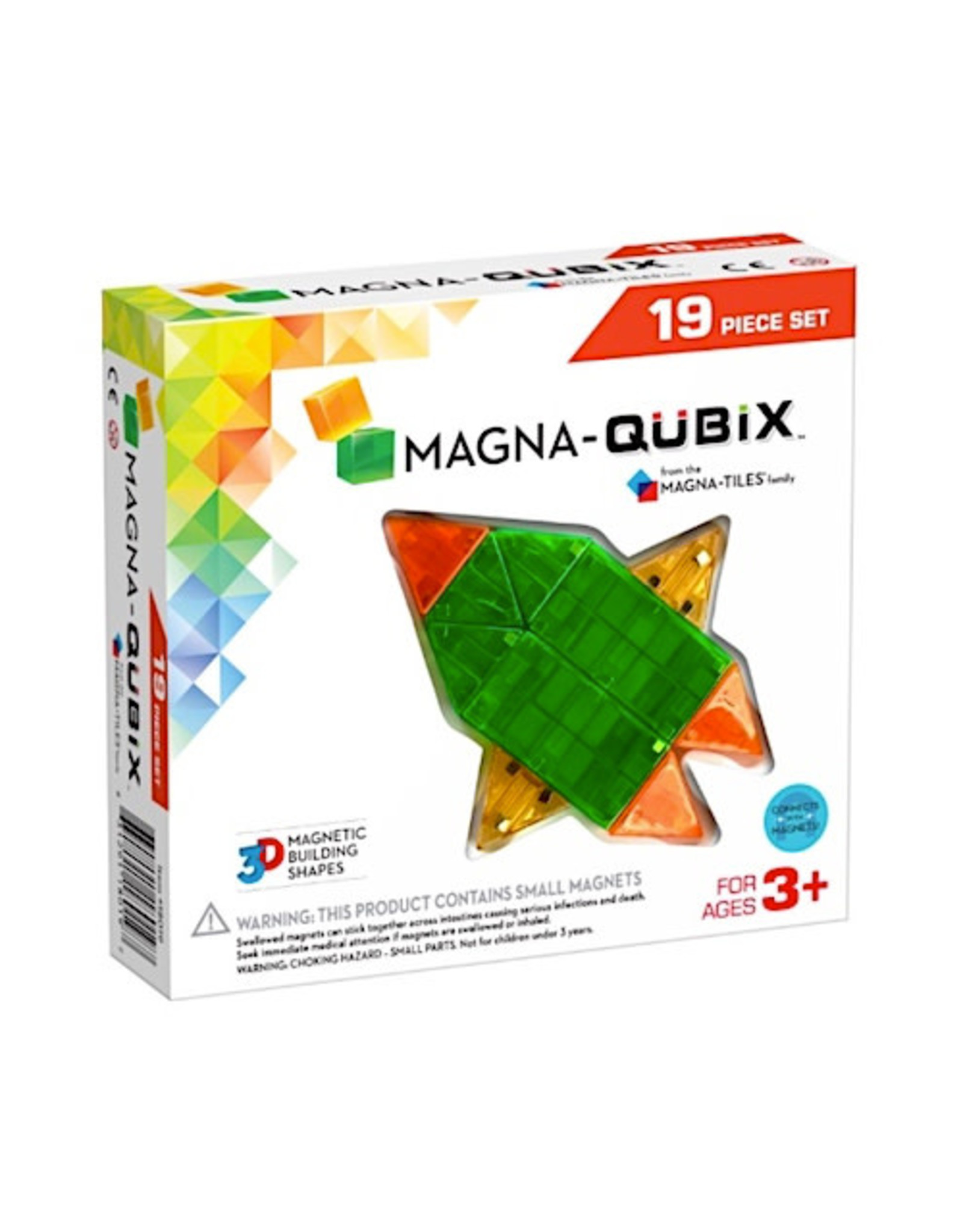 Magna Tiles Magna-Qubix 19 Piece Set