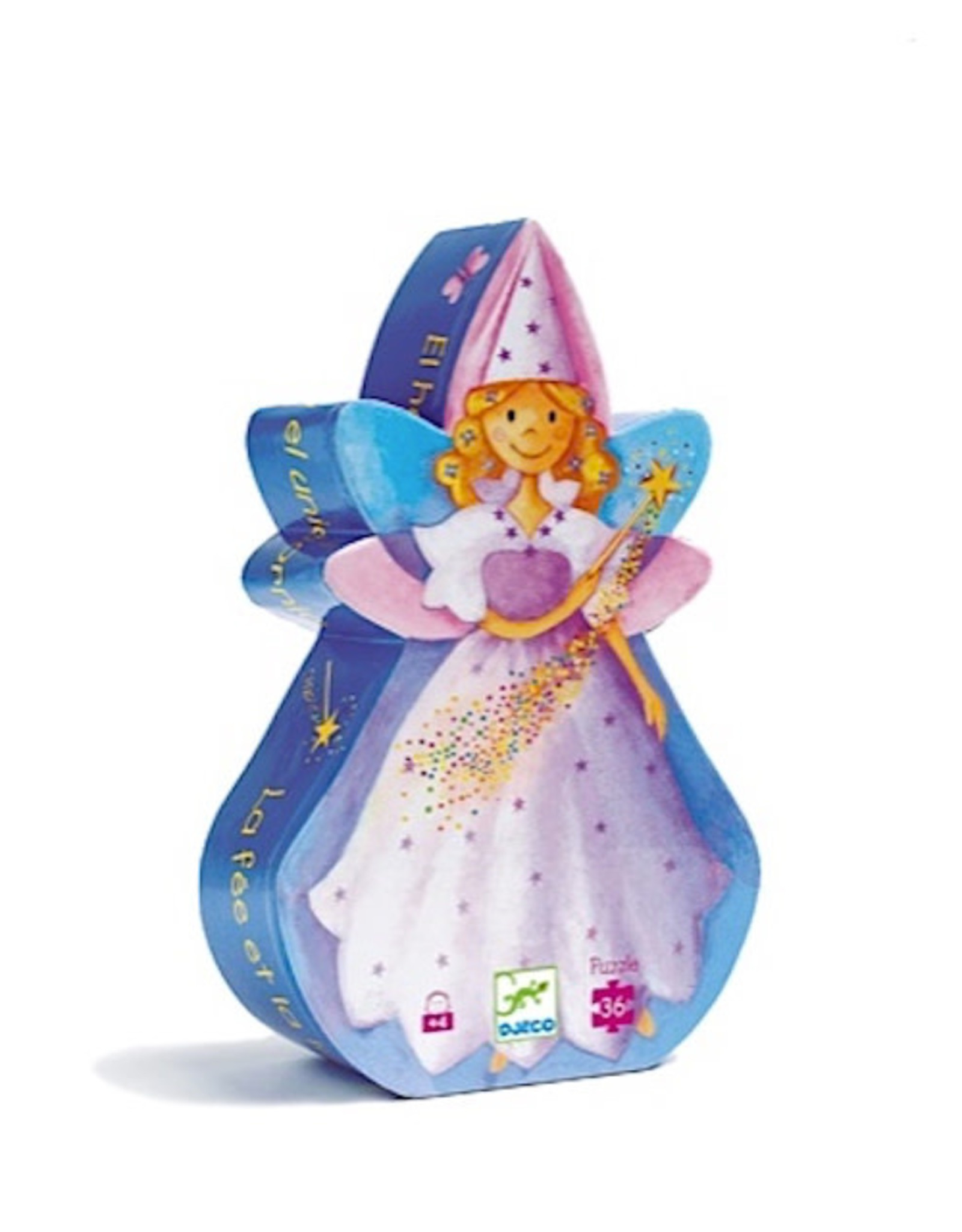 Djeco Silhouette Puzzles - The Fairy And The Unicorn - 36pcs