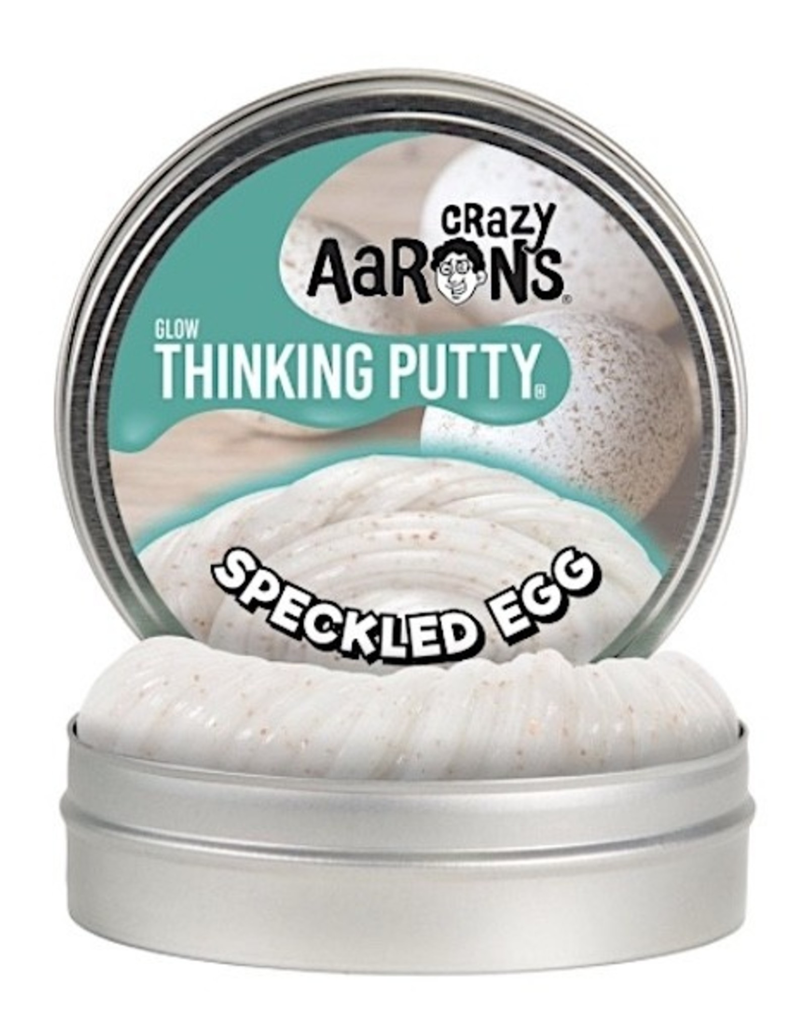 """Crazy Aaron's Putty Speckled Egg 4"""""""