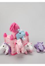 "Unipak Design 11"" Pink Castle W/ Unicorns"