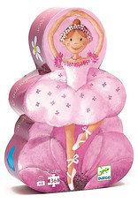 Djeco Silhouette Puzzles - The Ballerina With The Flower - 36pcs