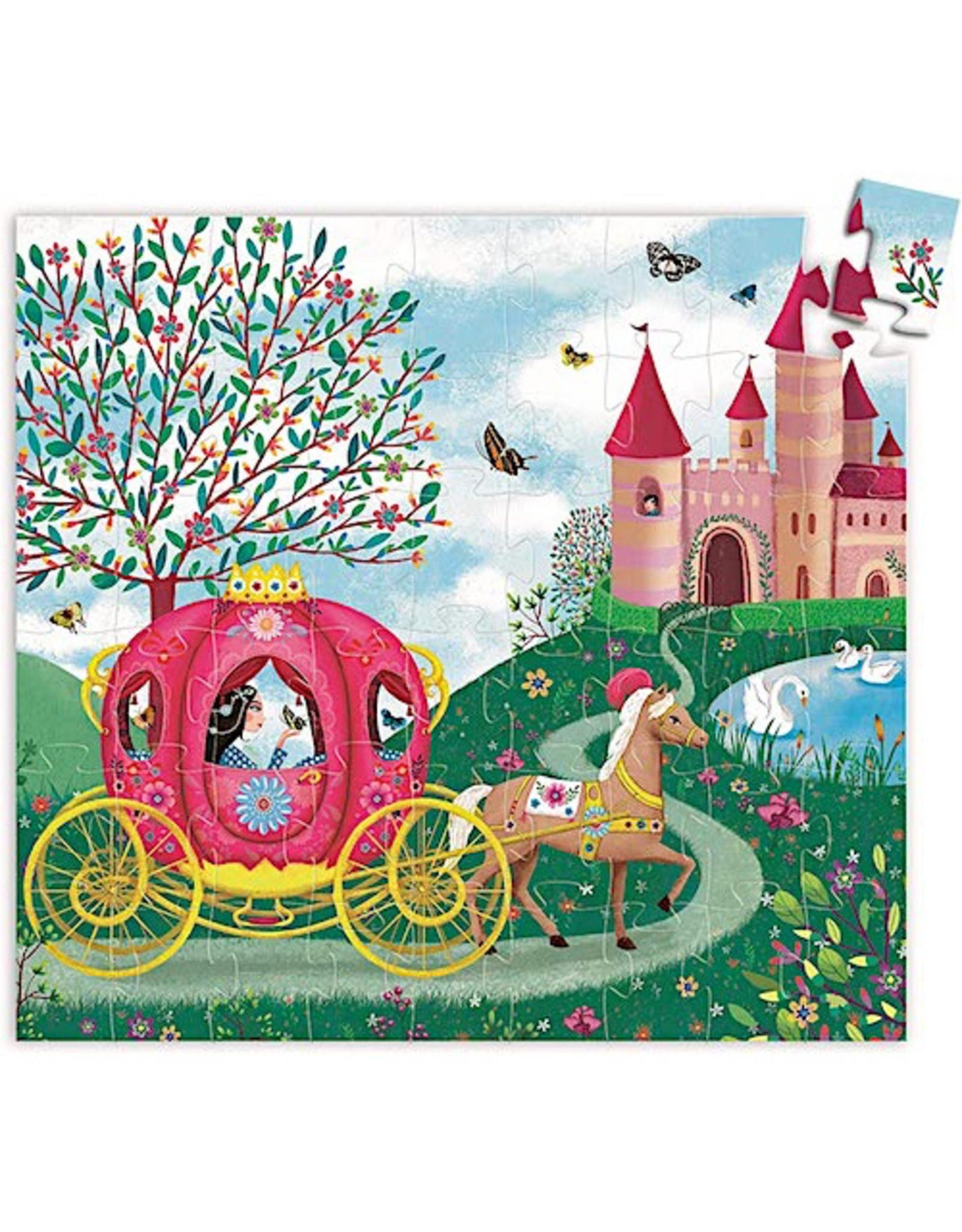 Djeco Silhouette Puzzles - Elise's Carriage - 54pcs