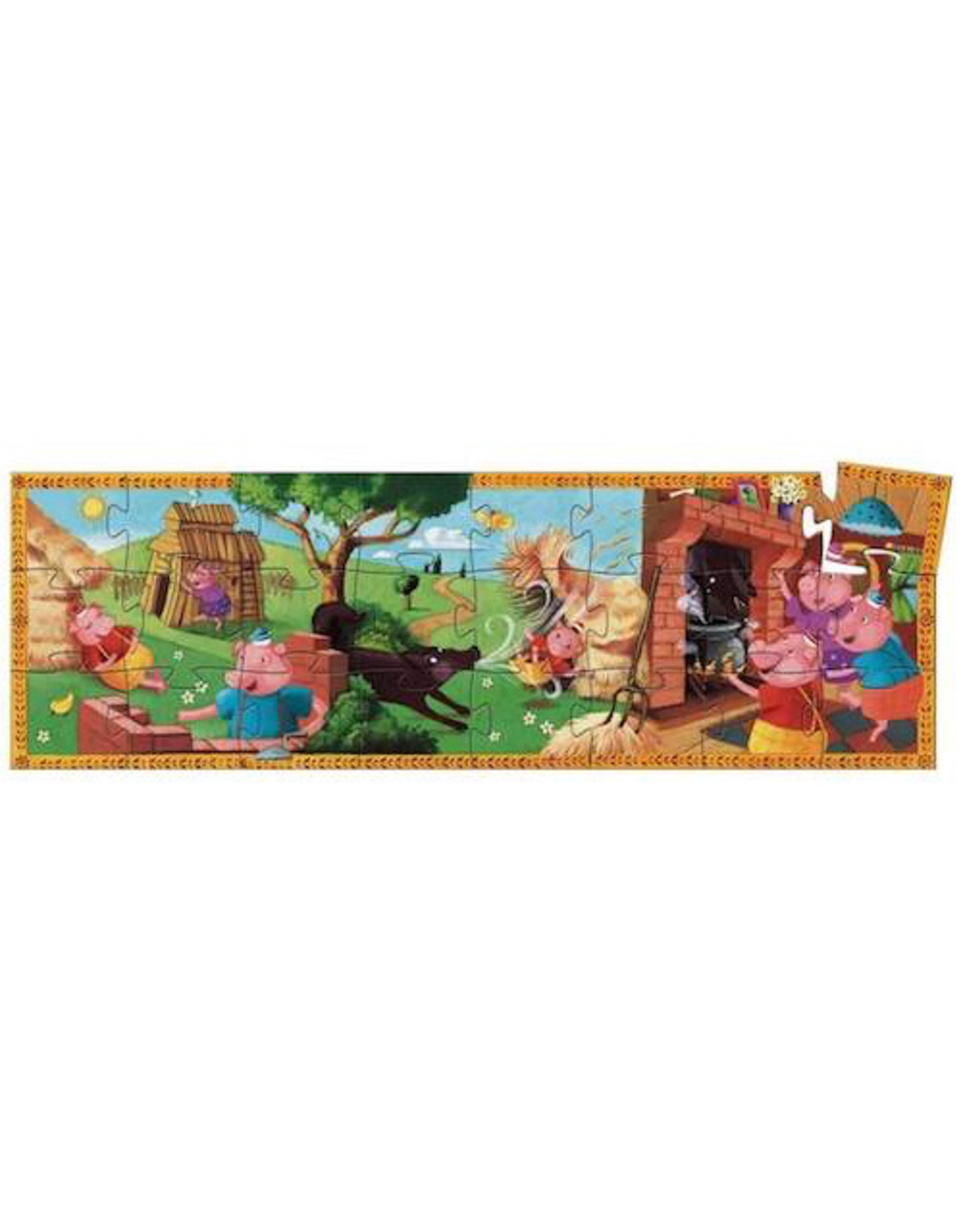 Djeco Silhouette Puzzles - The 3 Little Pigs - 24pcs