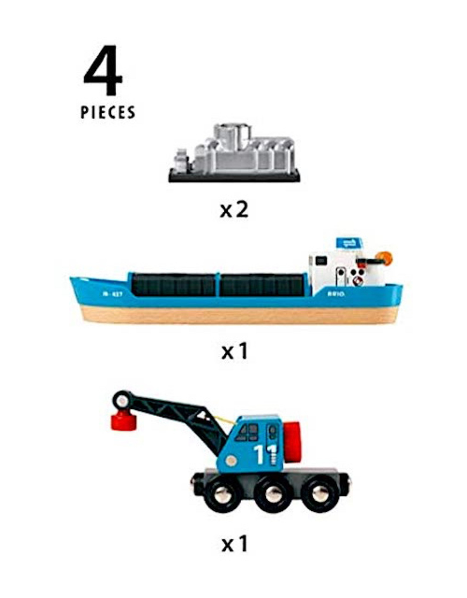 Ravensburger Freight Ship and Crane