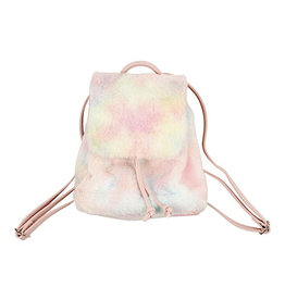 American Jewel Cotton Candy Tiny Fur Backpack