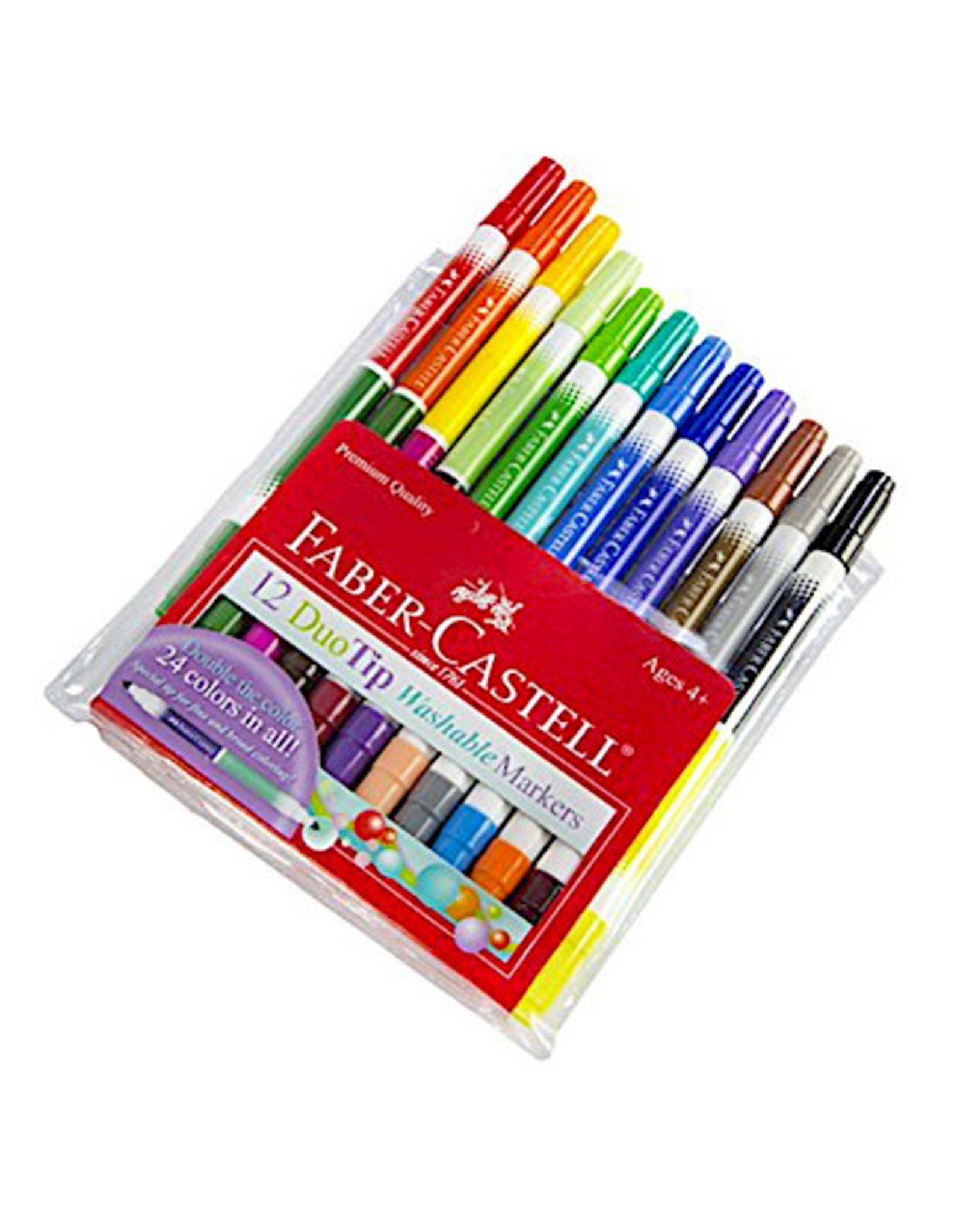 Faber Castell 12ct DuoTip Washable Markers