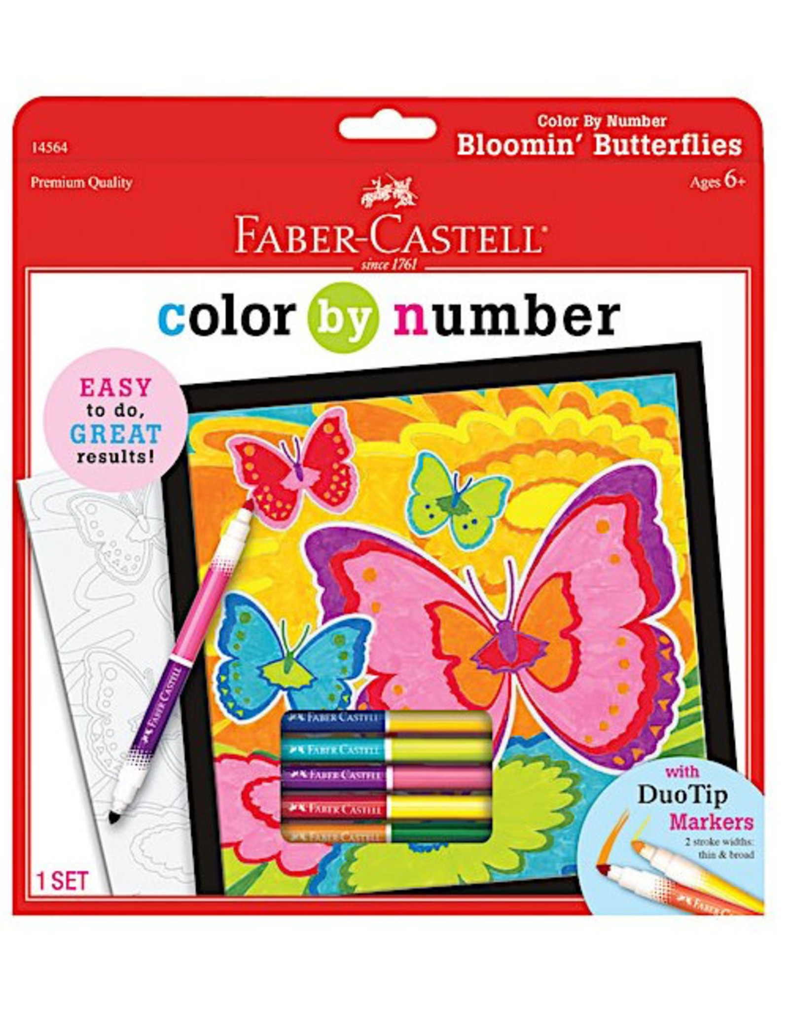 Faber Castell Color By Number Bloomin' Butterflies