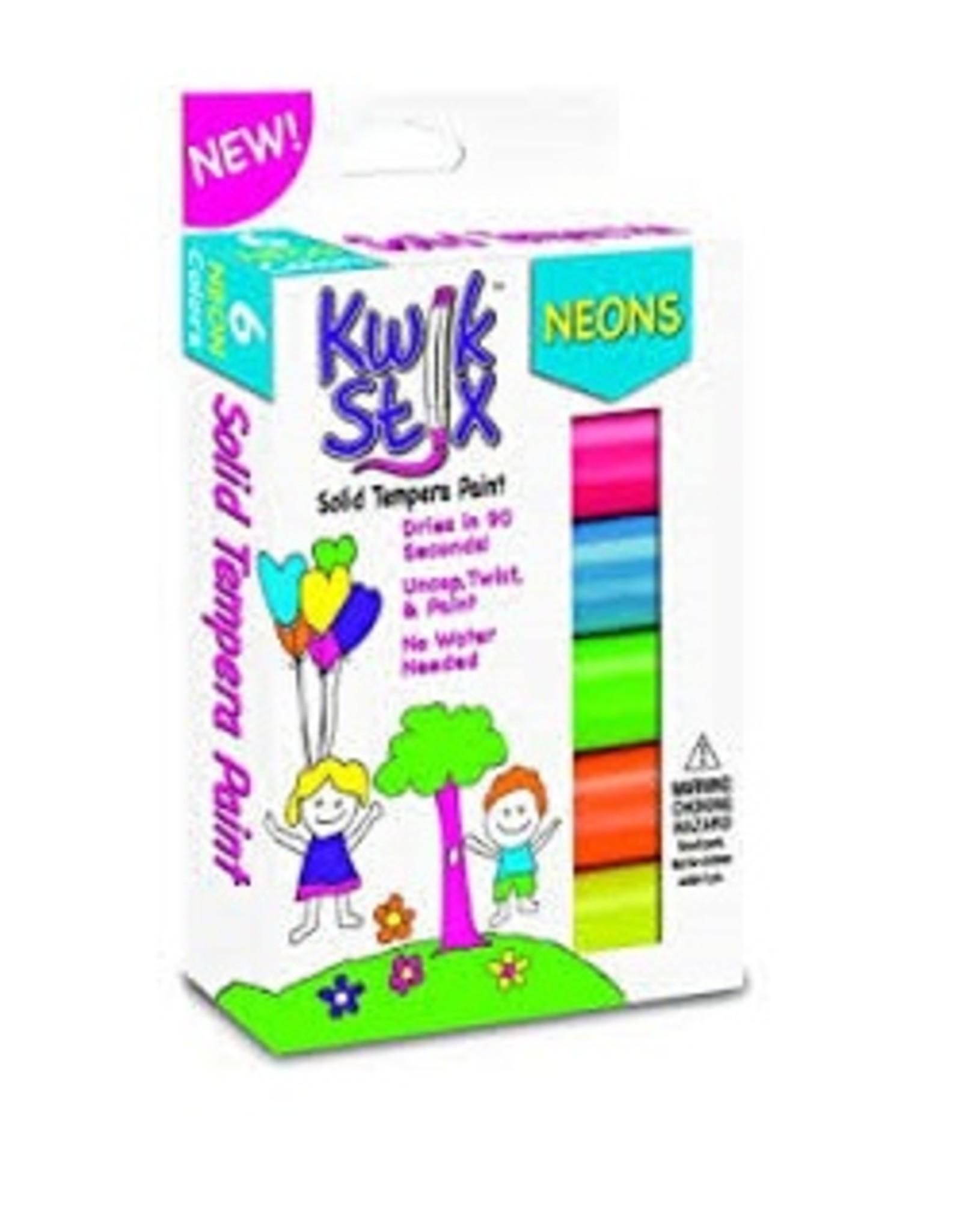 Kwik Stix Tempera Paint - 6 Neon Colors