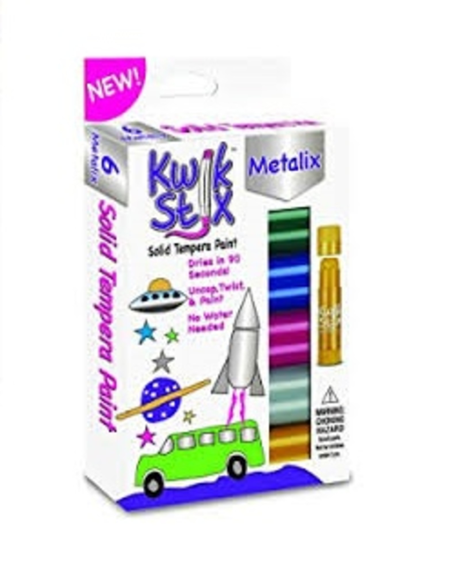 Kwik Stix Tempera Paint - 6 Metallic Colors