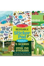 Melissa & Doug Easy-to-See 3-D Reusable Sticker Pad - Habitats