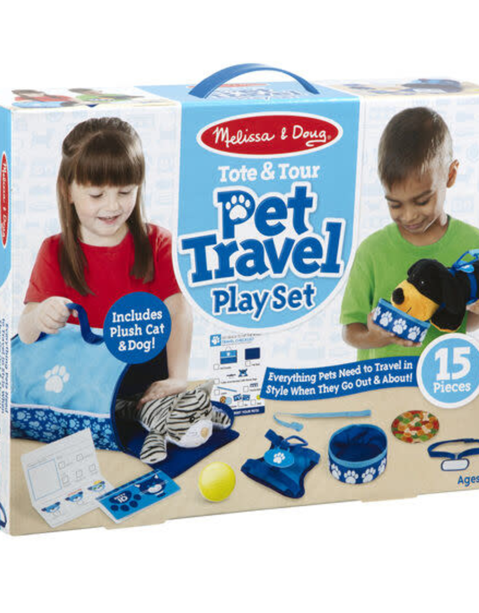 Melissa & Doug Tote and Tour Pet Travel Playset
