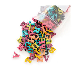 Type Set Soft Magnetic Rainbow Letters- 200pc