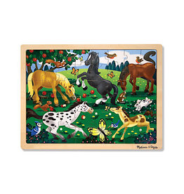 Melissa & Doug Frolicking Horses Wooden Puzzle