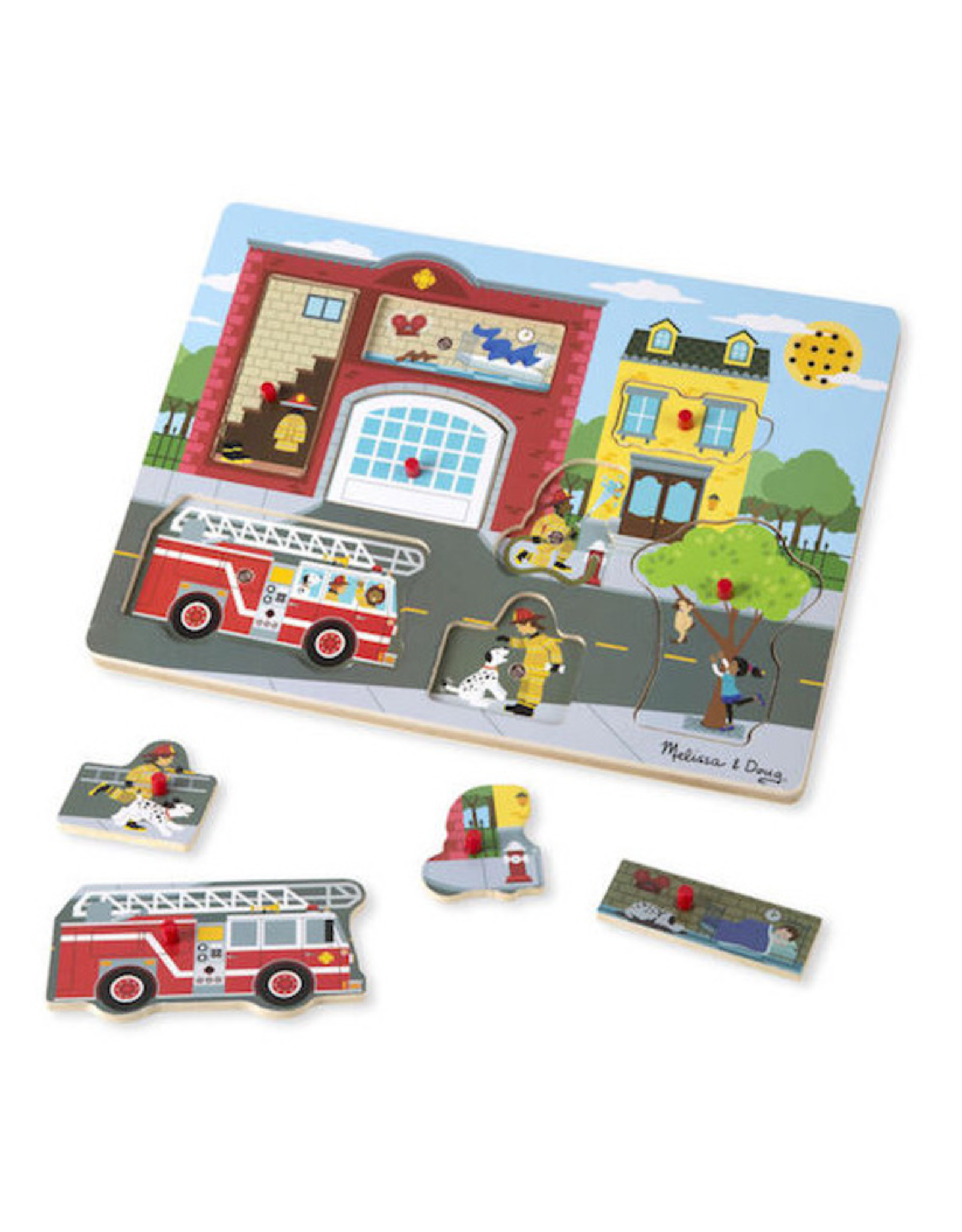 Melissa & Doug Around the Fire Station See & Hear Puzzle