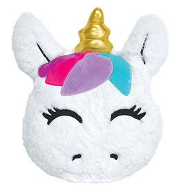 Iscream Goldie Unicorn Scented Furry Pillow