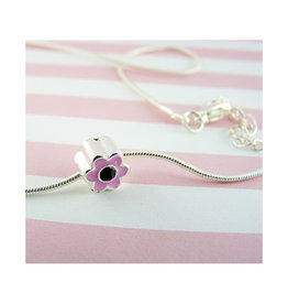 Snazzy & Co Girl's Pink Flower Slider Necklace