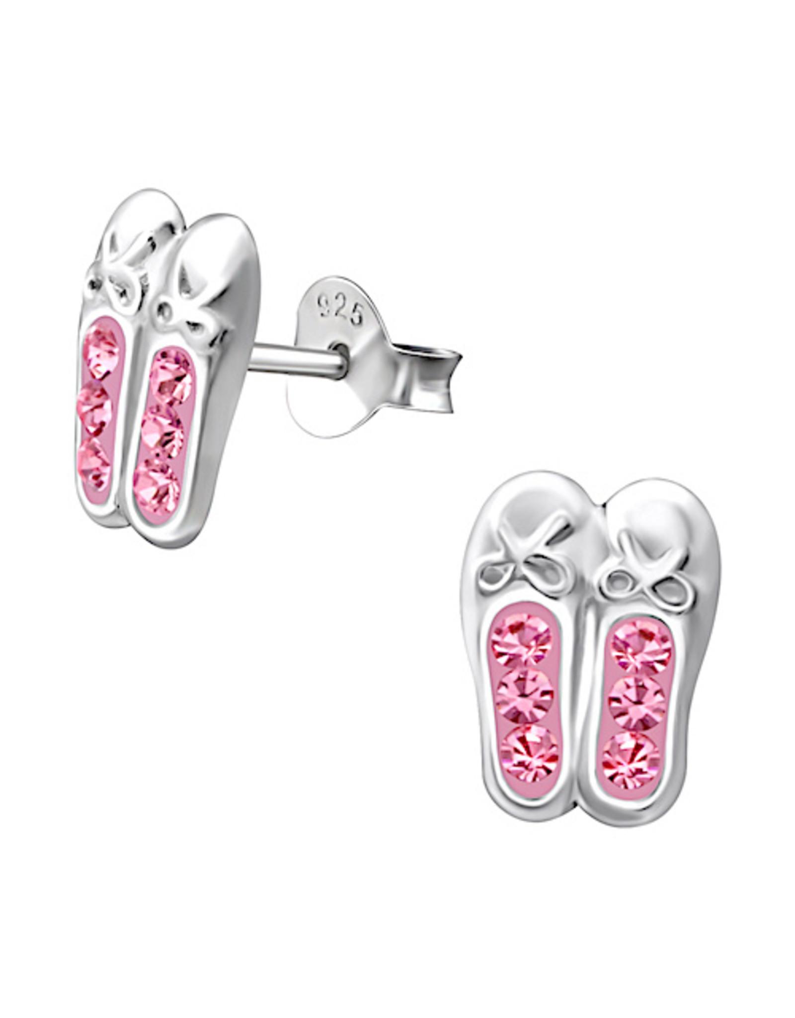 Snazzy & Co Girl's Sterling Silver Earrings