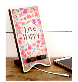 Natural Life Phone Stand Live Happy