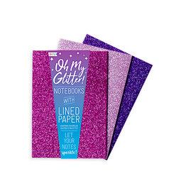 Ooly Oh My Glitter! Notebooks: Amethyst & Rhodolite