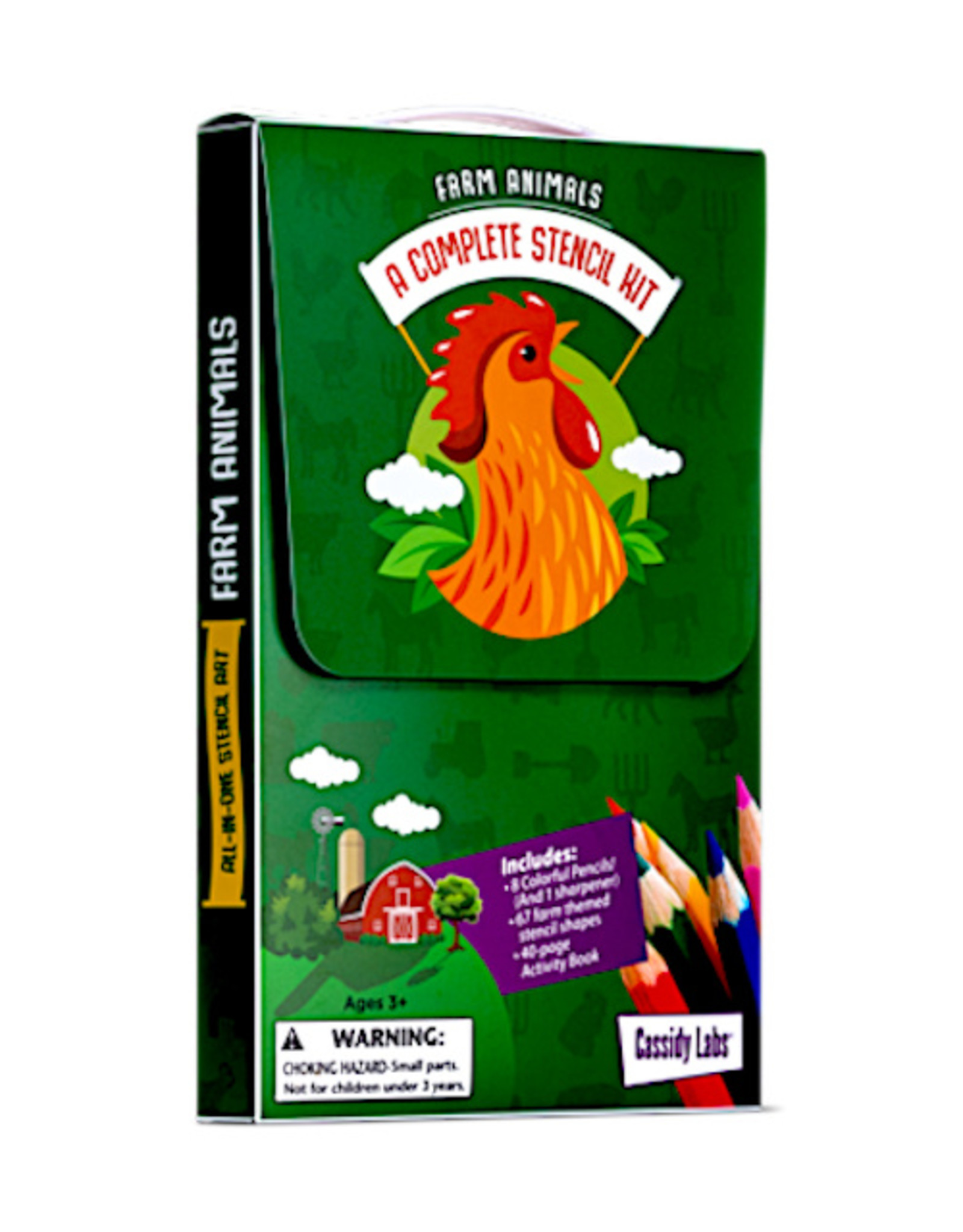 Cassidy Labs 3-PACK STENCIL* - ANIMAL FARM