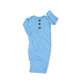 Gigi and Max Baby Blue Newborn Gown