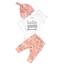 Gigi and Max Pink Floral Newborn Set