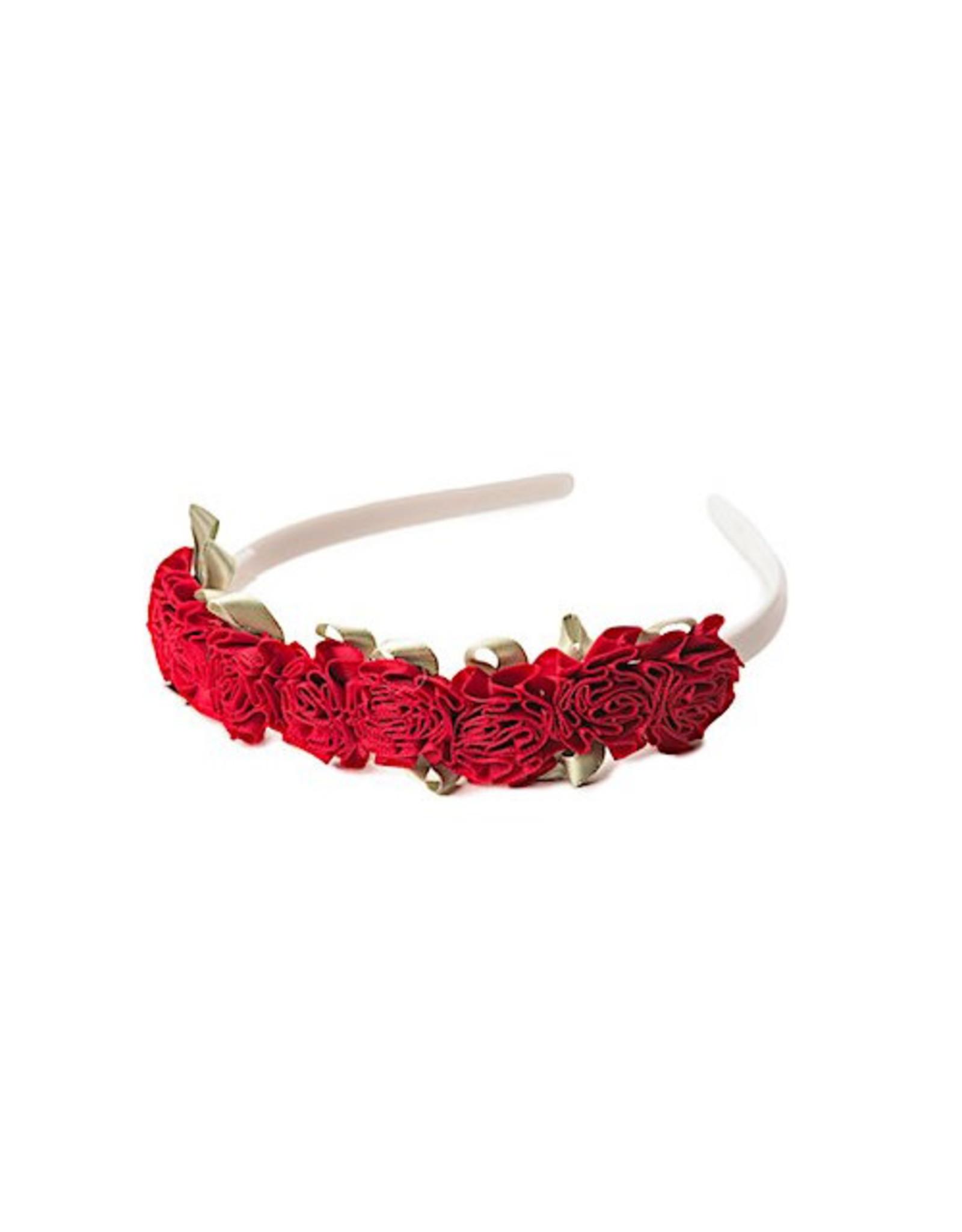 Little Adventures Flower Headband Red