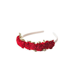 Little Adventures Flower Headband Red