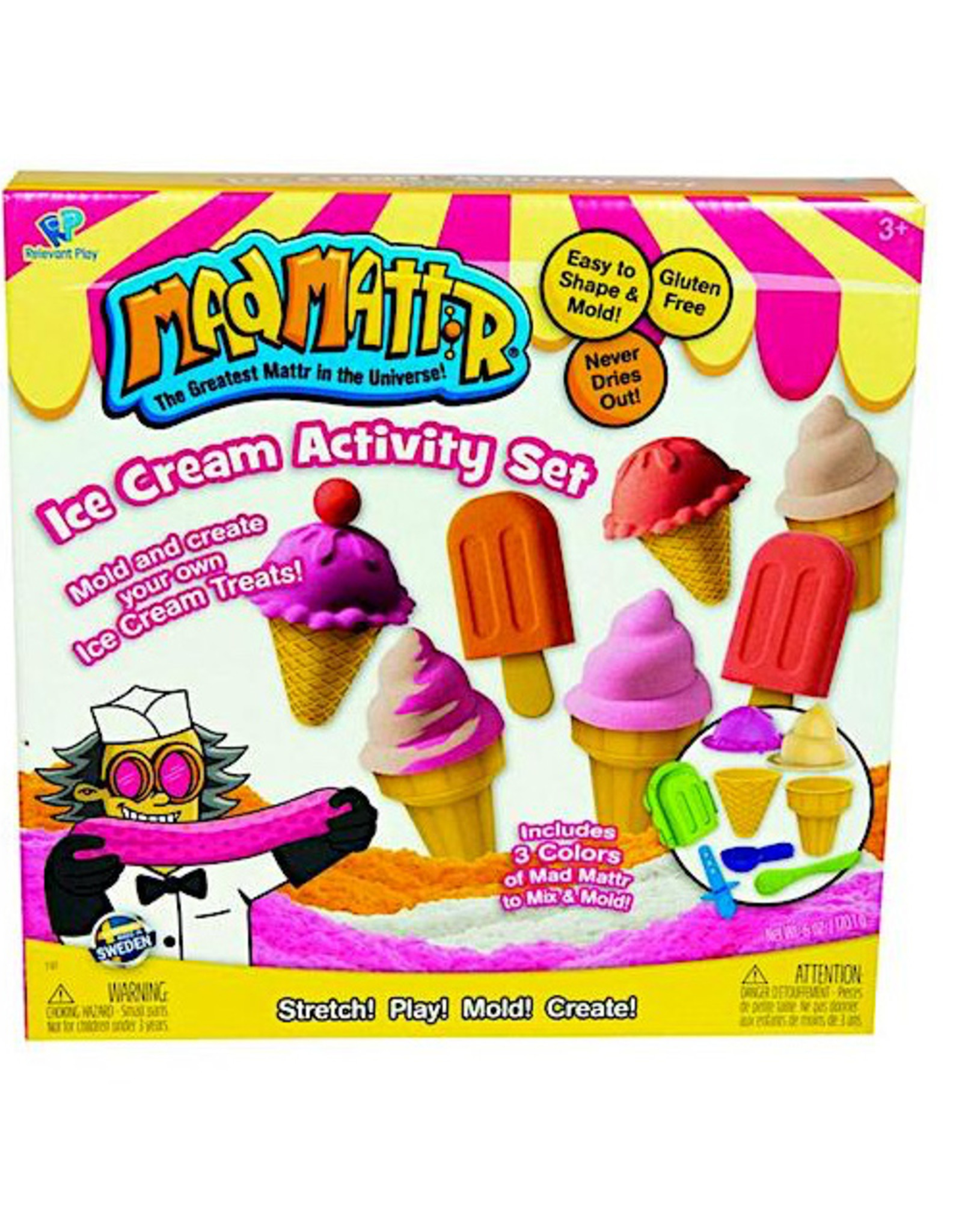 Relevant Play Mad Mattr Ice Cream Activity Set