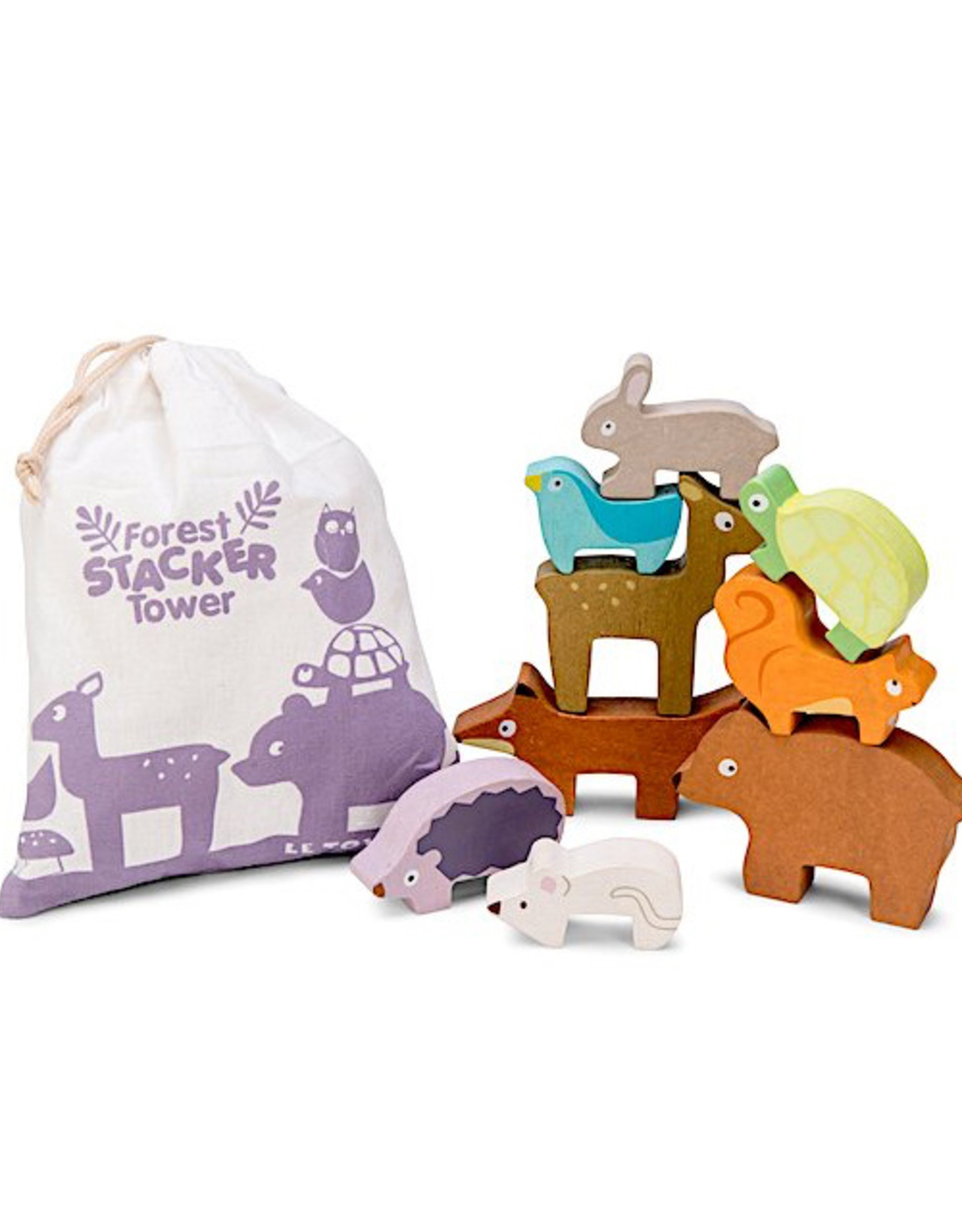 Le Toy Van Forest Stacker Tower & Bag