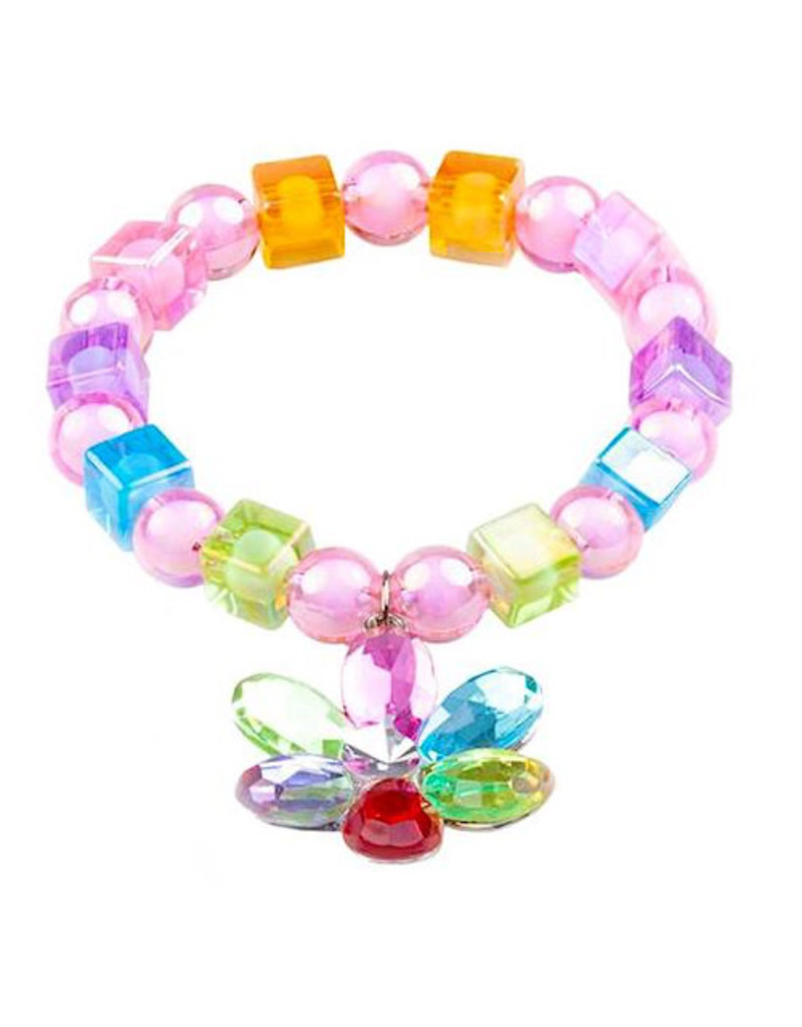 Flower Gem Bead Bracelet