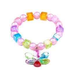 Flower Gem Bead Bracelet